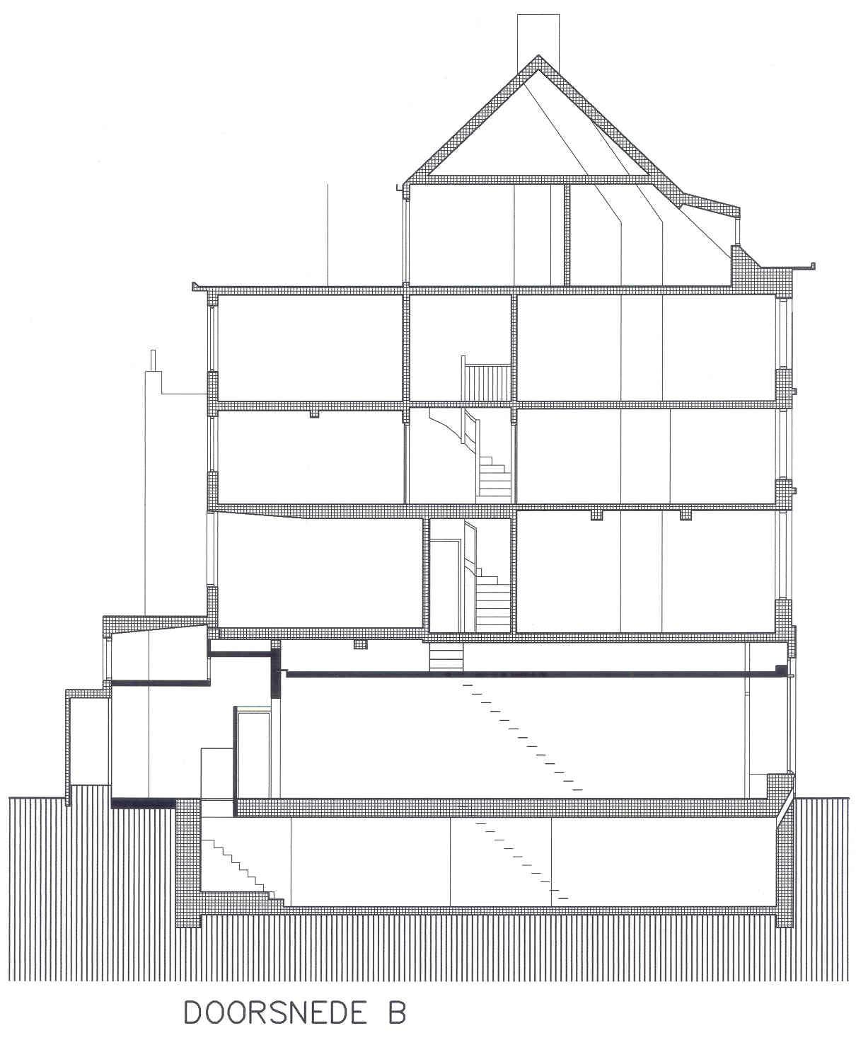 Verbouwen winkel kleine staat maastricht architectes for Trap doorsnede